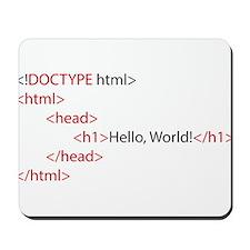 HTML Mousepad