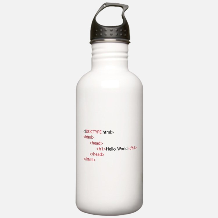 HTML Water Bottle