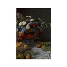 Claude Monet - Still Life with Fl Rectangle Magnet
