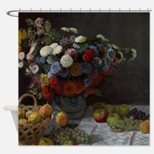 Claude Monet - Still Life with Flow Shower Curtain