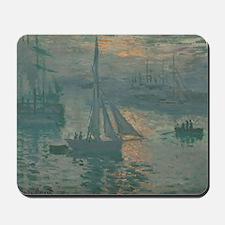 Claude Monet - Sunrise (Marine) Mousepad