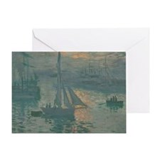 Claude Monet - Sunrise (Marine) Greeting Card