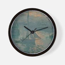 Claude Monet - Sunrise (Marine) Wall Clock