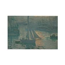Claude Monet - Sunrise (Marine) Rectangle Magnet