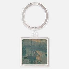 Claude Monet - Sunrise (Marine) Square Keychain