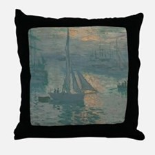 Claude Monet - Sunrise (Marine) Throw Pillow