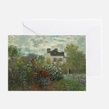 Claude Monet - The Artists Garden in Greeting Card