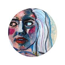 """Portrait of a woman 3.5"""" Button"""