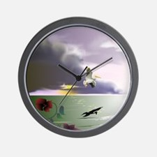 Unique Sunset clouds Wall Clock
