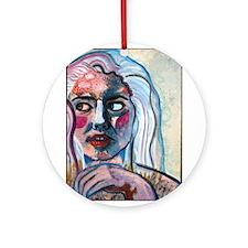 Portrait of a woman Ornament (Round)