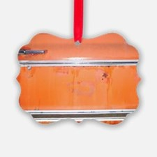 Orange with Silver & Black Old tr Ornament