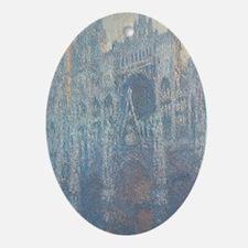 Claude Monet - The Portal of Rouen C Oval Ornament