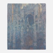 Claude Monet - The Portal of Rouen C Throw Blanket