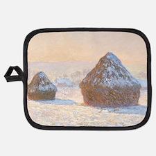 Claude Monet - Wheatstacks, Snow Effect, Potholder
