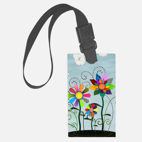 Whimsical Flowers Luggage Tag