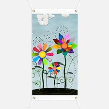 Whimsical Flowers Banner