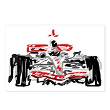 Race car Postcards (Package of 8)