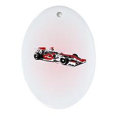 Grand Prix Oval Ornament