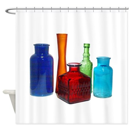 Glass Bottles Shower Curtain By Jqdesigns