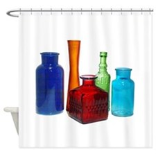 Glass Bottles Shower Curtain