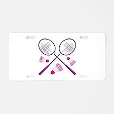 Badminton Rackets Aluminum License Plate