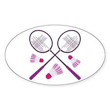 Badminton Rackets Decal