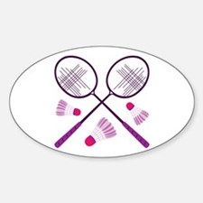 Badminton Rackets Decal