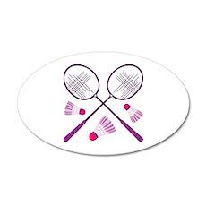 Badminton Rackets Wall Decal