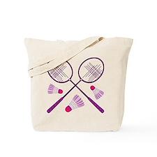 Badminton Rackets Tote Bag