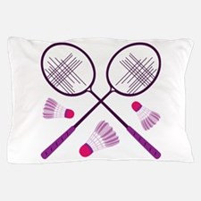 Badminton Rackets Pillow Case
