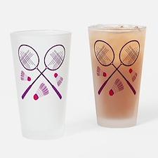 Badminton Rackets Drinking Glass