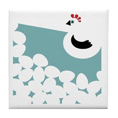 Aqua Chicken Tile Coaster