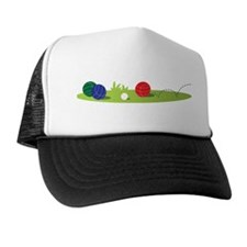 Bocce Ball Game Trucker Hat