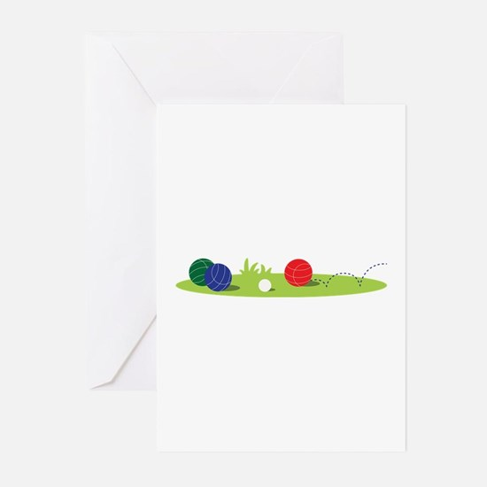 Bocce Ball Game Greeting Cards