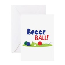 BOCCE BALL! Greeting Cards
