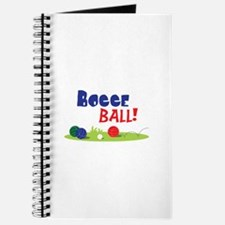 BOCCE BALL! Journal