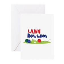 LAWN BOWLING Greeting Cards