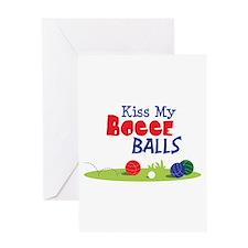 Kiss My BOCCE BALLS Greeting Cards