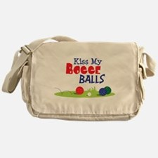 Kiss My BOCCE BALLS Messenger Bag