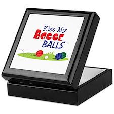 Kiss My BOCCE BALLS Keepsake Box