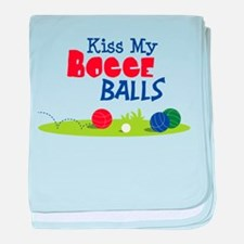 Kiss My BOCCE BALLS baby blanket