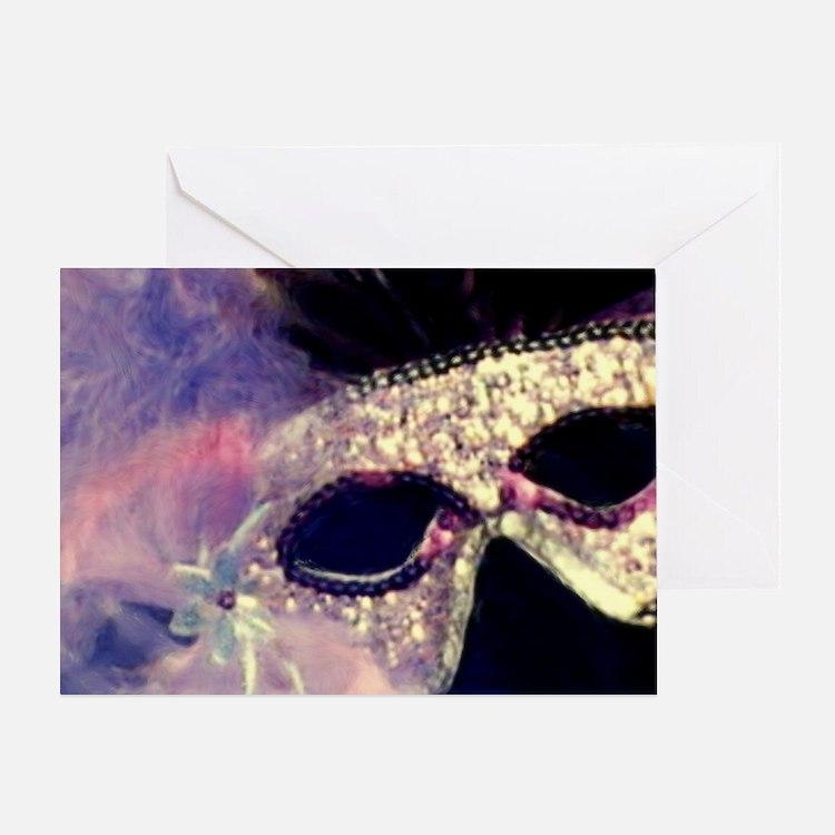 Mardi Gras Mask Greeting Cards