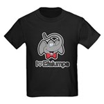 I Love Heart Efalumps Elephant Kids Dark T-Shirt
