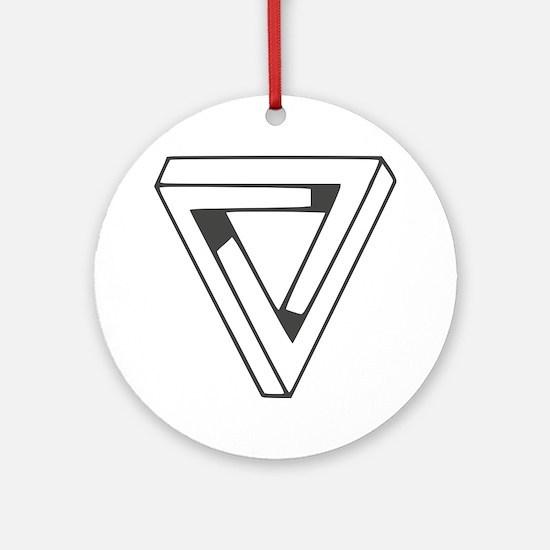 Illusion Round Ornament