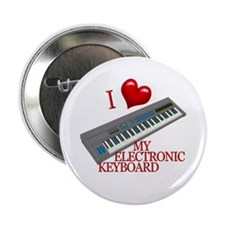 """I Love My ELECTRONIC KEYBOARD 2.25"""" Button (10 pac"""