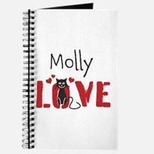 Personalize Kitty Love Journal