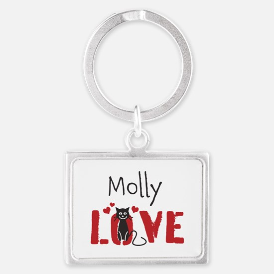 Personalize Kitty Love Keychains
