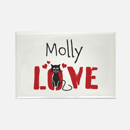 Personalize Kitty Love Magnets
