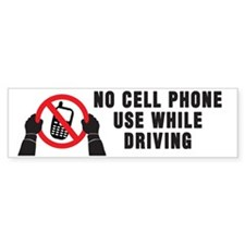 No Cell Phone Use While Driving! Bumper Sticker