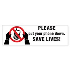Put Your Phone down! Car Sticker